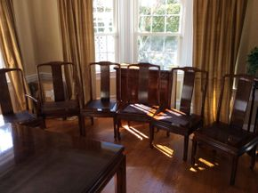 Lot 062 Lot of 6 Henredon Dining Room Chairs ITEM CAN BE PICKED UP IN ROCKVILLE CENTRE