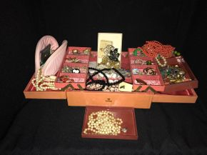 Lot 023 Large Lot Of Costume Jewelry with Jewelry Case PICK UP IN EAST MEADOW