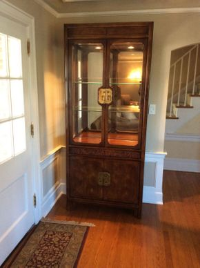 Lot 064 Henredon China Cabinet With 2 Shelves  ITEM CAN BE PICKED UP IN ROCKVILLE CENTRE