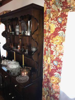 Lot 027 Vintage Pine Breakfront 76.5H x 17W x 20L PICK UP IN EAST MEADOW