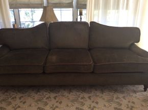 Lot 001 Three Seat Upholstered Sofa  ITEM CAN BE PICKED UP IN ROCKVILLE CENTRE