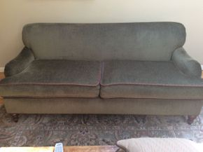 Lot 002 Two Seat Upholstered Sofa   ITEM CAN BE PICKED UP IN ROCKVILLE CENTRE