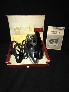 Lot 037 Vintage Universal Steam dry Travel Iron Model UI-16T by GE PICK UP IN EAST MEADOW
