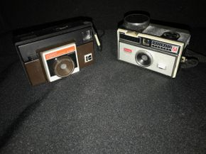 Lot 038 Pair of Vintage Kodak Instamatic Cameras  Models 154 and 1-15F PICK UP IN EAST MEADOW