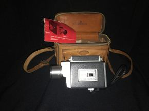 Lot 039 Vintage Kodak Zoom 8 Camera Automatic In Leather Case PICK UP IN EAST MEADOW