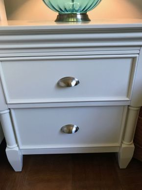 Lot 045 Pair Of Raymour and Flanigan Night Stands 27H x 17W x 26L PICK UP IN ROCKVILLE CENTRE