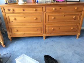 Lot 024 Six Drawer Lane Pine Dresser  ITEM CAN BE PICKED UP IN ROCKVILLE CENTRE