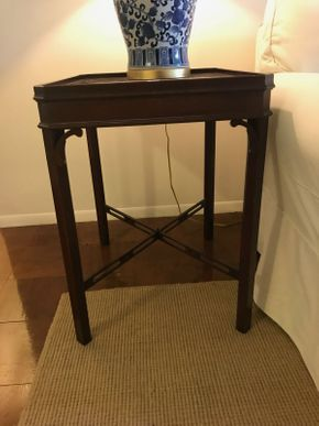 Lot 069 Pair Of wood End Tables 27L x 24W x 19.5L PICK UP IN ROCKVILLE CENTRE