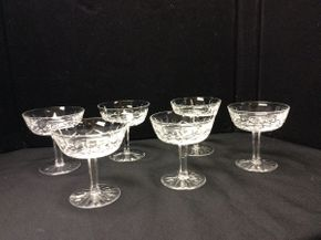 Lot 041 Lot of 6 Waterford Lismore Champagne Glasses  ITEM CAN BE PICKED UP IN ROCKVILLE CENTRE