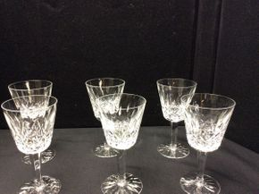 Lot 040 Lot of 6 Waterford Lismore Wine Glasses   ITEM CAN BE PICKED UP IN ROCKVILLE CENTRE