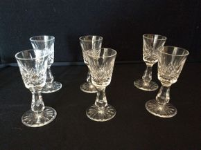 Lot 050 Lot of 6 Waterford Cordial Glasses ITEM CAN BE PICKED UP IN BELLEROSE