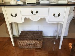 Lot 063 Painted Wood Sofa Table  33H x 14W x 47L PICK UP IN ROCKVILLE CENTRE