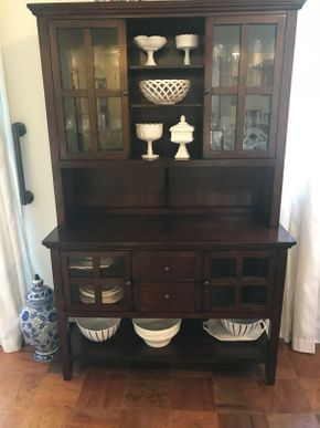 Lot 066 Pier One China Cabinet 6ftH X 18W x 46L PICK UP IN ROCKVILLE CENTRE