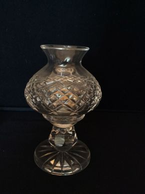 Lot 056 Waterford Hurricane Lamp ITEM CAN BE PICKED UP IN BELLEROSE
