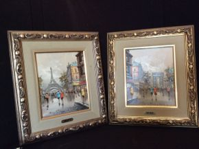 Lot 059 Pair of Devity Oil Paintings ITEM CAN BE PICKED UP IN BELLEROSE
