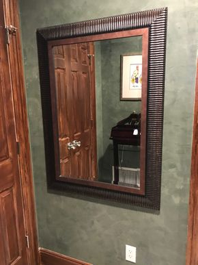 Lot 076 Wood Framed Mirror 45x33   ITEMS TO BE PICKED UP IN EAST HILLS