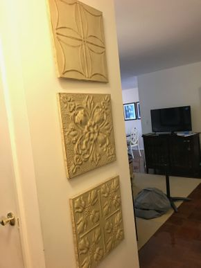 Lot 099 Lot Of 3 Decorative Metal Wall Hangings 17x 17 PICK UP IN ROCKVILLE CENTRE