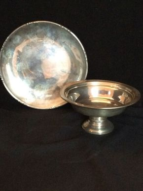 Lot 051 Sterling Silver Platter and Bowl ITEM CAN BE PICKED UP IN GARDEN CITY