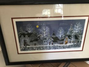 Lot 095 Framed Hand Signed Wooster Scott Litho graph number 6D2 28x 18 PICK UP IN GARDEN CITY