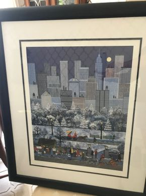 Lot 096 Framed  Wooster Scott Lithograph NUMBER 6FL 24 X 28 PICK UP IN GARDEN CITY