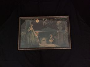 Lot 009 Vintage Roy Richards Framed Print Moonlight Serenade ITEM CAN BE PICKED UP IN GARDEN CITY