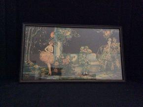 Lot 021 Vintage Tsanya Framed Print Pierrots Quarrel ITEM CAN BE PICKED UP IN GARDEN CITY
