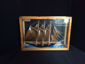 Lot 064 Model Schooner Christina In CaseITEM CAN BE PICKED UP IN GARDEN CITY
