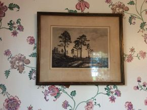 Lot 086 Framed Andrew Watson Turnbull Etching  ITEM CAN BE PICKED UP IN GARDEN CITY