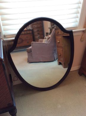 Lot 008 Wood Framed Mirror ITEM CAN BE PICKED UP IN LAWRENCE