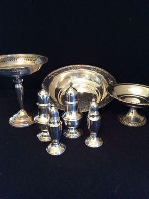 Lot 013 Lot of Sterling Silver Table Items ITEM CAN BE PICKED UP IN LAWRENCE