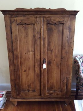 Lot 020 Antique 2 Door Armoire ITEM CAN BE PICKED UP IN ROCKVILLE CENTRE
