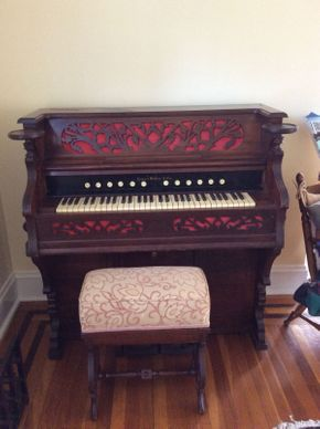 Lot 021 Horace Waters and Co Antique Organ  ITEM CAN BE PICKED UP IN ROCKVILLE CENTRE