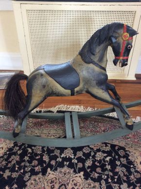 Lot 024 Vintage Rocking Horse   ITEM CAN BE PICKED UP IN ROCKVILLE CENTRE