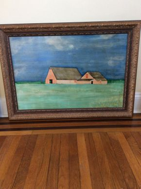 Lot 028 Signed C. Buckley Oil on Canvas ITEM CAN BE PICKED UP IN ROCKVILLE CENTRE