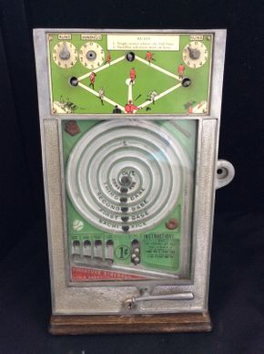 Lot 041 Vintage Miniature Baseball World Champion Pinball Game ITEM CAN BE PICKED UP IN ROCKVILLE CENTRE