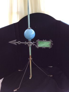 Lot 043 Folkart Glass and Metal Weather Vane  ITEM CAN BE PICKED UP IN ROCKVILLE CENTRE