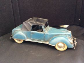 Lot 045 Vintage Decorative Metal Car ITEM CAN BE PICKED UP IN ROCKVILLE CENTRE
