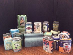 Lot 058 Lot of Metal Cans and Boxes  ITEM CAN BE PICKED UP IN ROCKVILLE CENTRE