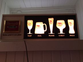 Lot 065 Electric Working Rheingold Beer Sign  ITEM CAN BE PICKED UP IN ROCKVILLE CENTRE