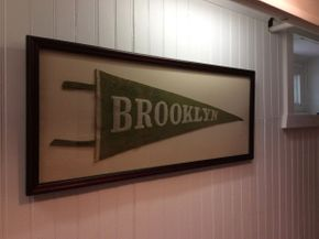 Lot 069 Framed Brooklyn Pendant  ITEM CAN BE PICKED UP IN ROCKVILLE CENTRE