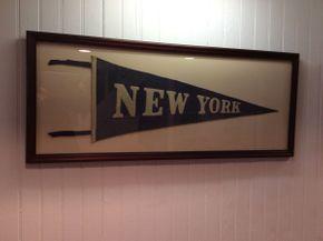 Lot 068 Framed Felt New York Pendant  ITEM CAN BE PICKED UP IN ROCKVILLE CENTRE