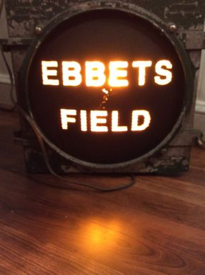 Lot 071 Electric Working Ebbets Field Sign  ITEM CAN BE PICKED UP IN ROCKVILLE CENTRE