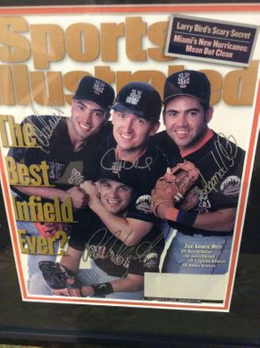 Lot 067 Framed Signed 1999 Sports Illustrated CoverITEM CAN BE PICKED UP IN ROCKVILLE CENTRE