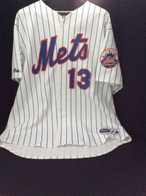 Lot 088 Signed No 13 Alfonzo Mets Jersey ITEM CAN BE PICKED UP IN ROCKVILLE CENTRE