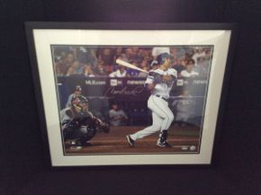 Lot 087 Signed Framed Carlos Beltran Photo  ITEM CAN BE PICKED UP IN ROCKVILLE CENTRE