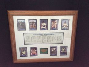 Lot 086 Framed Brooklyn Dodgers 1955 World Champions ITEM CAN BE PICKED UP IN ROCKVILLE CENTRE