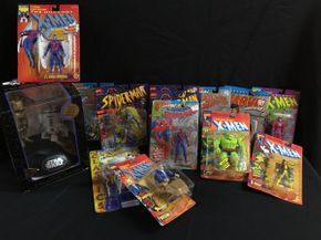 Lot 001 Various  Spiderman, Star Wars And Spawn Alley Figures