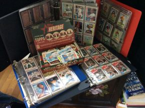 Lot 095 Lot of Baseball and Football Cards 1980 - 2001, 1950's  ITEM CAN BE PICKED UP IN ROCKVILLE CENTRE