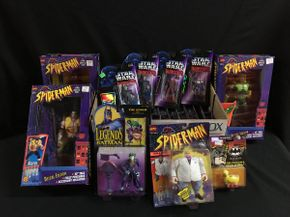 Lot 018 10 inch Spiderman Figures Star Wars Shadow Of The Empire, Batman Figures