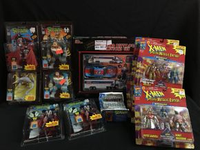 Lot 021 Spawn Figures and Cards, X-men Figures, Racing Champion Collectors Set